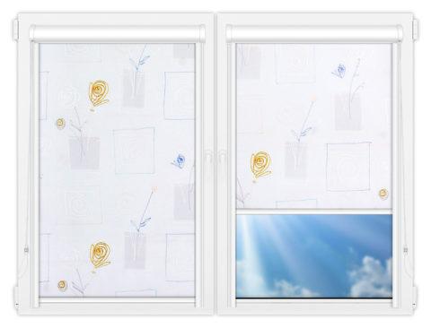 Рулонные кассетные шторы УНИ - Аниара-блю