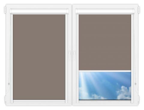 Рулонные кассетные шторы УНИ - Аргентум-темно-серый на пластиковые окна