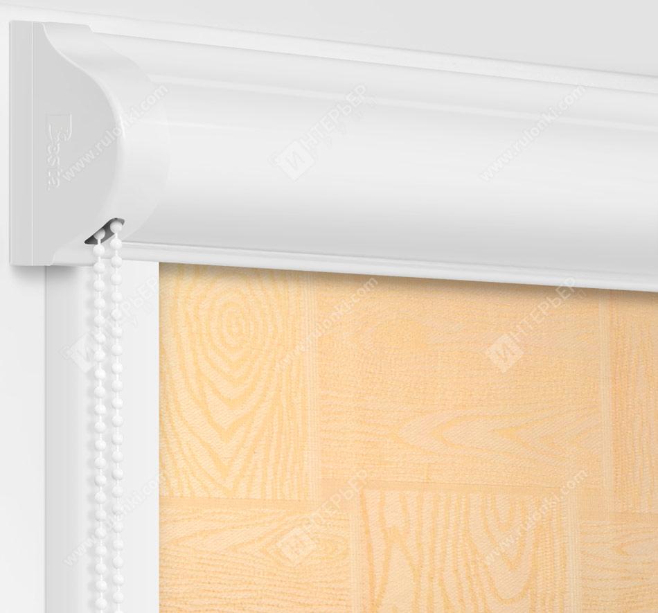 Рулонные кассетные шторы УНИ - Дриада персиковый