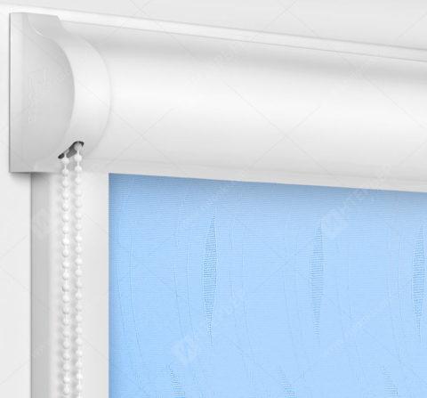 Рулонные кассетные шторы УНИ - Флора голубой