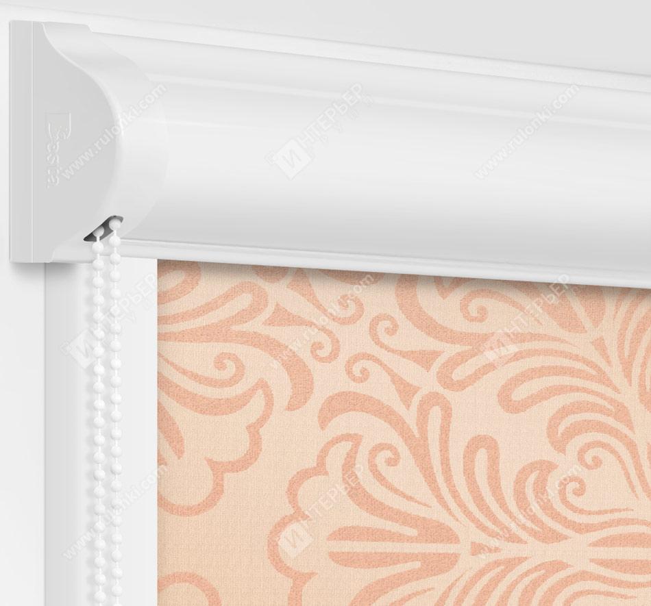 Рулонные кассетные шторы УНИ - Калипсо персиковый