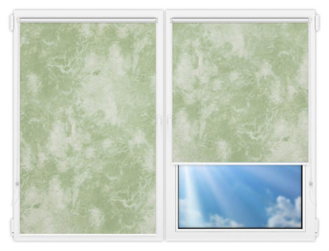Рулонные шторы Мини - Клаудиа-грин на пластиковые окна