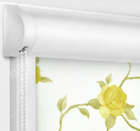 Рулонные кассетные шторы УНИ - Крымская роза желтый