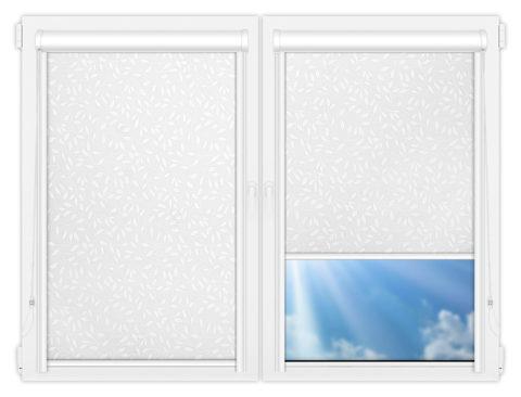 Рулонные кассетные шторы УНИ - Ламьера-белый