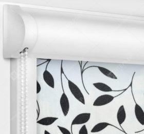 Рулонные кассетные шторы УНИ - Ламьера черный