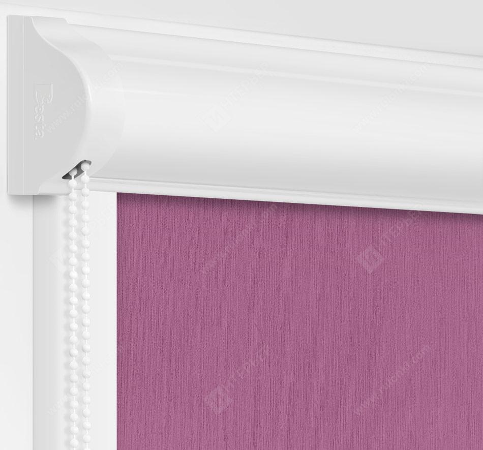 Рулонные кассетные шторы УНИ - Лусто фиолетовый