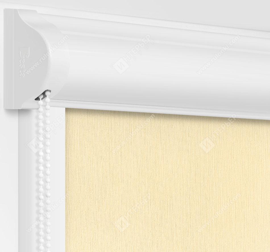 Рулонные кассетные шторы УНИ - Лусто кремовый