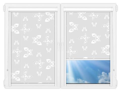 Рулонные кассетные шторы УНИ - Махаон-вайт