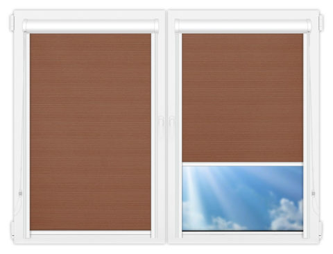 Рулонные кассетные шторы УНИ - Маракеш-блэкаут-дарк-бейж на пластиковые окна