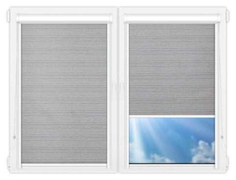 Рулонные кассетные шторы УНИ - Маракеш-блэкаут-грей на пластиковые окна