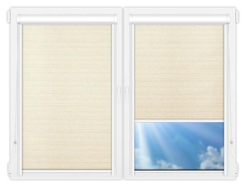 Рулонные кассетные шторы УНИ - Маракеш-блэкаут-вайт на пластиковые окна