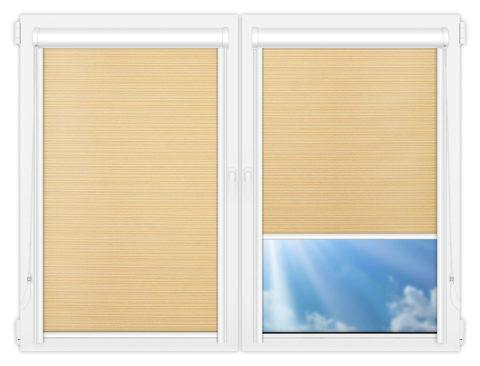 Рулонные кассетные шторы УНИ - Маракеш-еллоу на пластиковые окна