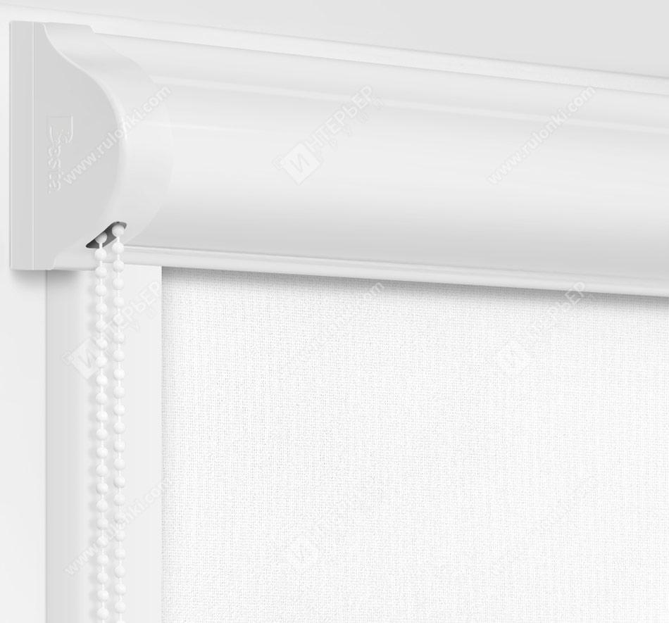 Рулонные кассетные шторы УНИ - Металлик белый