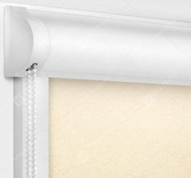 Рулонные кассетные шторы УНИ - Металлик светло-бежевый