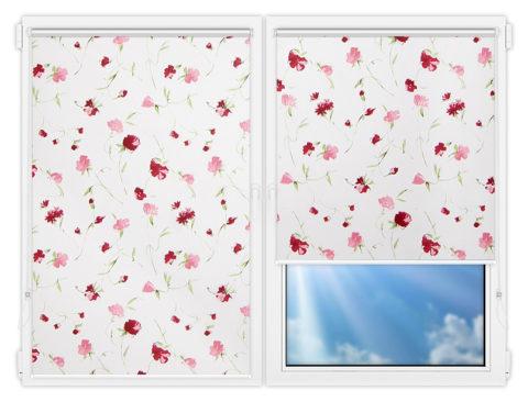 Рулонные шторы Мини - Нельке-2 на пластиковые окна