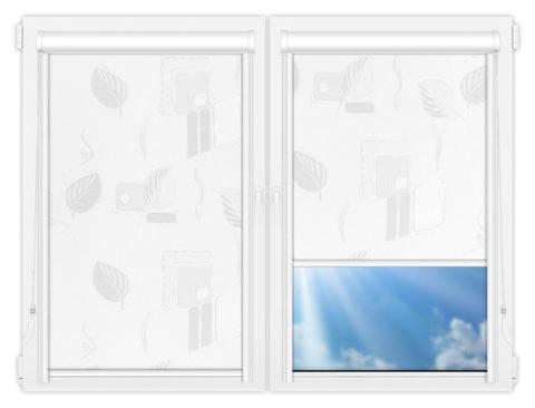 Рулонные кассетные шторы УНИ - Опус-вайт