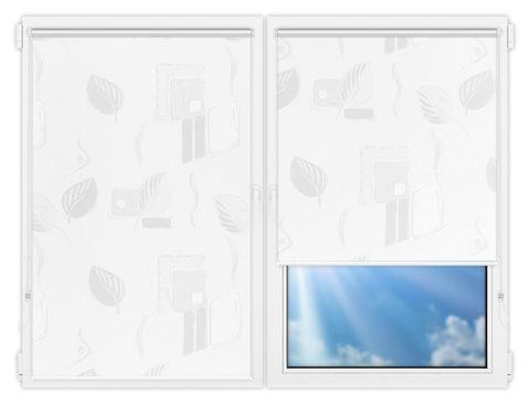 Рулонные шторы Мини - Опус-вайт на пластиковые окна