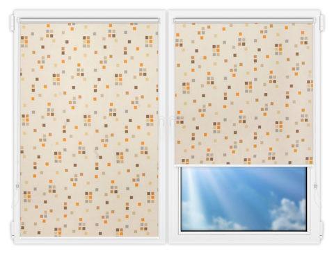Рулонные шторы Мини - Пазл-какао на пластиковые окна