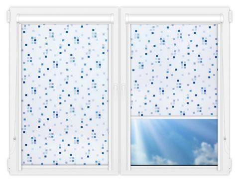 Рулонные кассетные шторы УНИ - Пазл-виолет
