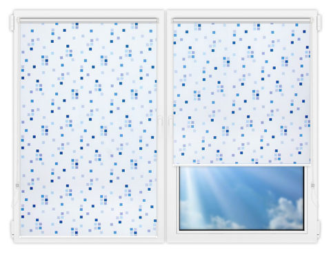 Рулонные шторы Мини - Пазл-виолет на пластиковые окна