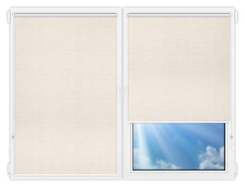 Рулонные шторы Мини - Раита-натурал-димоут на пластиковые окна