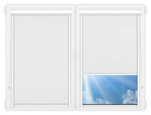 Рулонные кассетные шторы УНИ - Шантунг-белый