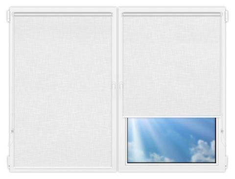 Рулонные шторы Мини - Шантунг-белый на пластиковые окна