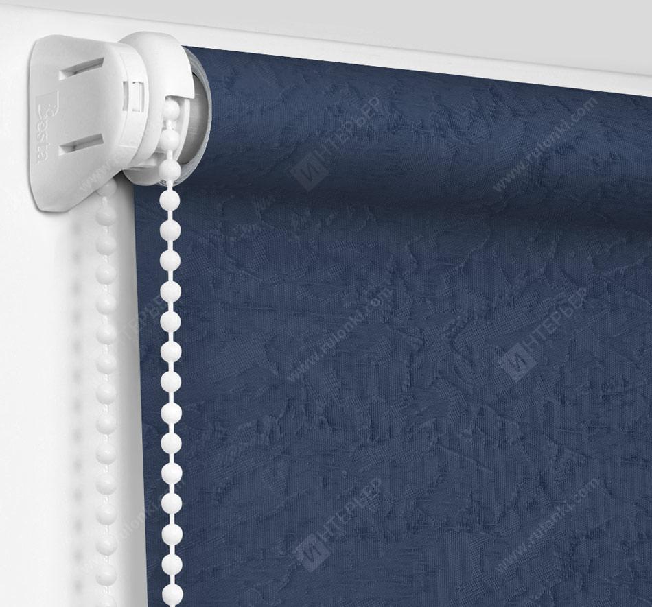 Рулонные шторы Мини – Шелк синий