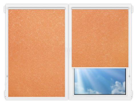 Рулонные шторы Мини - Шелк-терракот на пластиковые окна