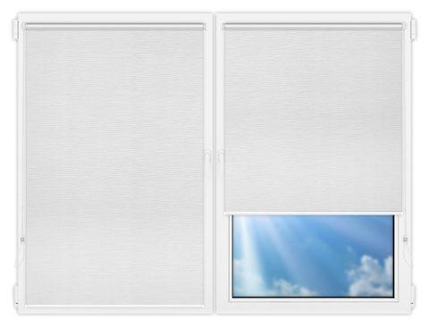Рулонные шторы Мини - Стикан-белый на пластиковые окна