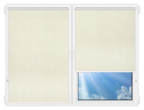 Рулонные шторы Мини - Стикан-бежевый на пластиковые окна
