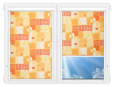 Рулонные кассетные шторы УНИ - Тонус-оранж