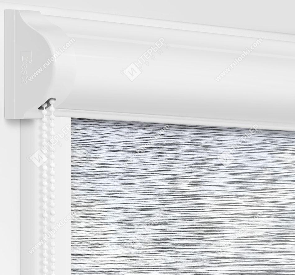 Рулонные кассетные шторы УНИ - Ямайка серый