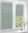 Рулонные кассетные шторы УНИ – Ямайка зеленый