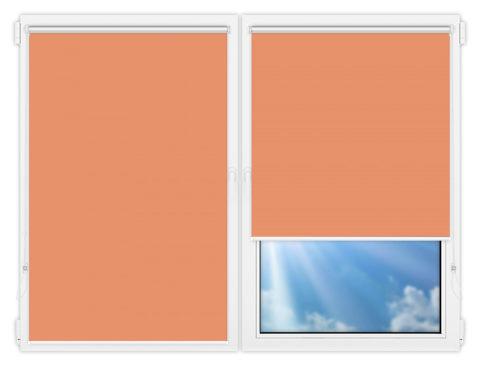 Рулонные шторы Мини - Аргентум-кирпичный на пластиковые окна