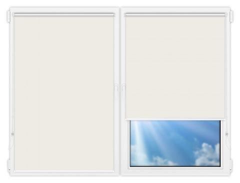 Рулонные шторы Мини - Аргентум-светло-бежевый на пластиковые окна