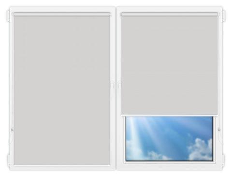 Рулонные шторы Мини - Аргентум-светло-серый на пластиковые окна