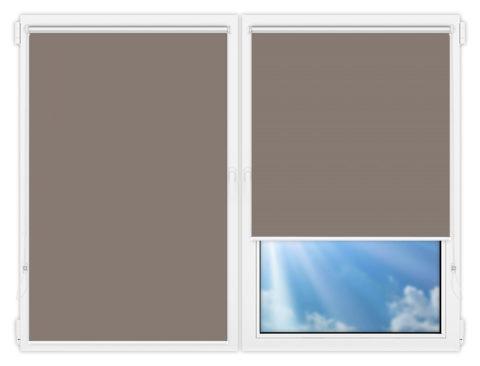 Рулонные шторы Мини - Аргентум-темно-серый на пластиковые окна