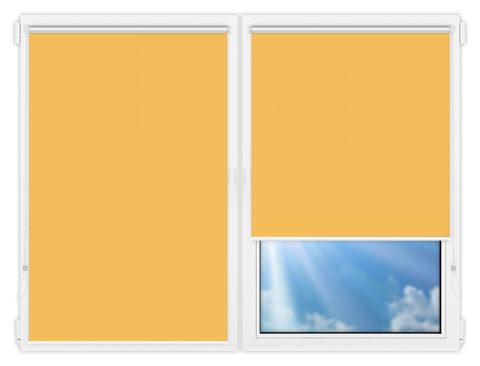 Рулонные шторы Мини - Аргентум-желтый на пластиковые окна