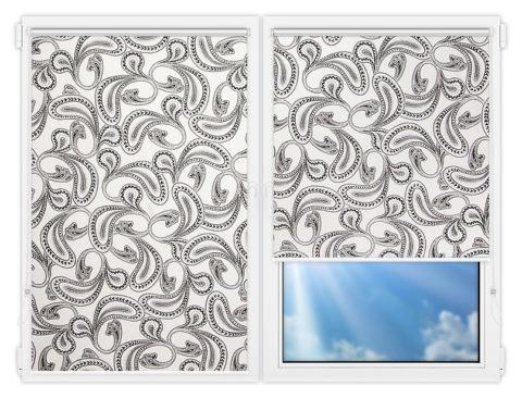 Рулонные шторы Мини - Калипсо-белый на пластиковые окна