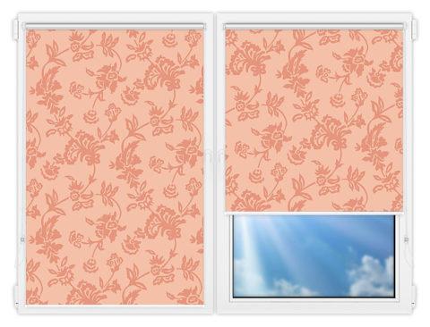 Рулонные шторы Мини - Калифорния-2 на пластиковые окна