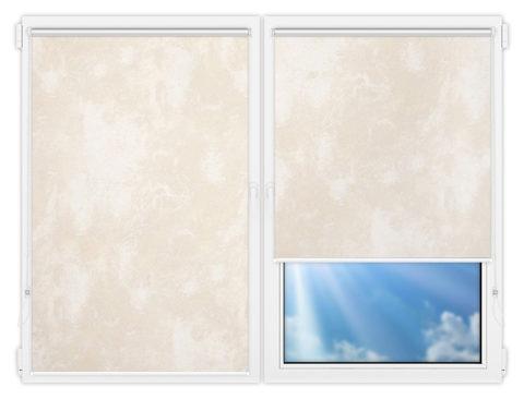 Рулонные шторы Мини - Клаудиа-блэкаут-бейж на пластиковые окна