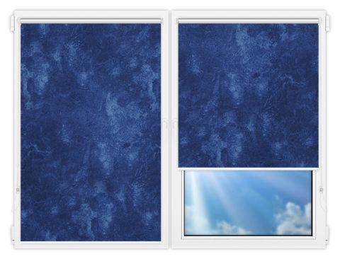 Рулонные шторы Мини - Клаудиа-блэкаут-индиго на пластиковые окна