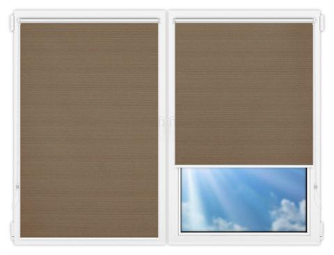 Рулонные шторы Мини - Маракеш-браун на пластиковые окна