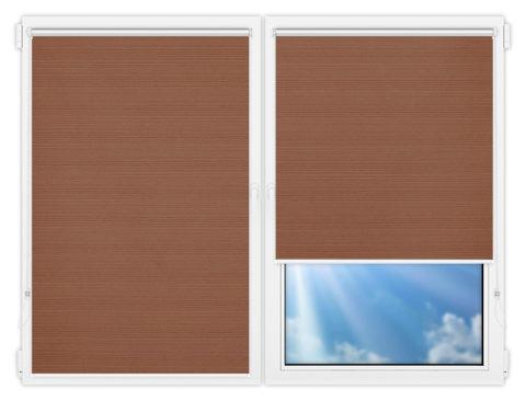 Рулонные шторы Мини - Маракеш-дарк-бейж на пластиковые окна