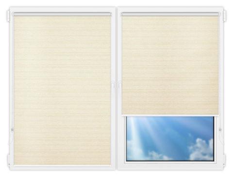 Рулонные шторы Мини - Маракеш-вайт на пластиковые окна