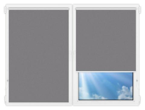 Рулонные шторы Мини - Силк-скрин-алю-светло-серый на пластиковые окна