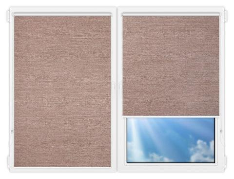 Рулонные шторы Мини - Валенсия-темно-бежевый на пластиковые окна