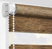 Рулонные шторы День-Ночь - Палермо коричневый 15