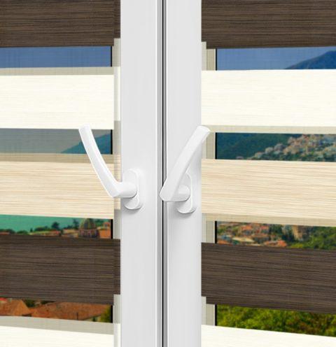Рулонные шторы День-Ночь - Салерно 33 на пластиковые окна